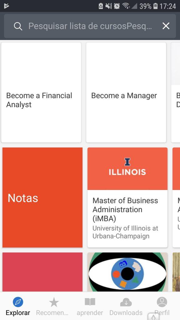 Screenshot 20190205 172428 Coursera 576x1024 - Os 5 melhores aplicativos para fazer cursos online