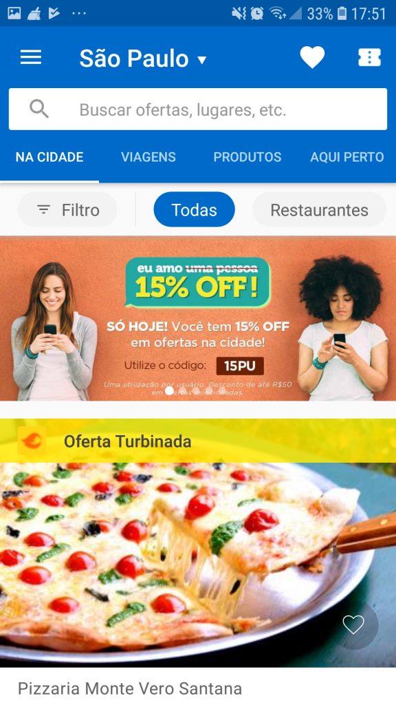 Screenshot 20190509 175110 Peixe Urbano 576x1024 - Os 6 apps que te ajudam a planejar o fim de semana