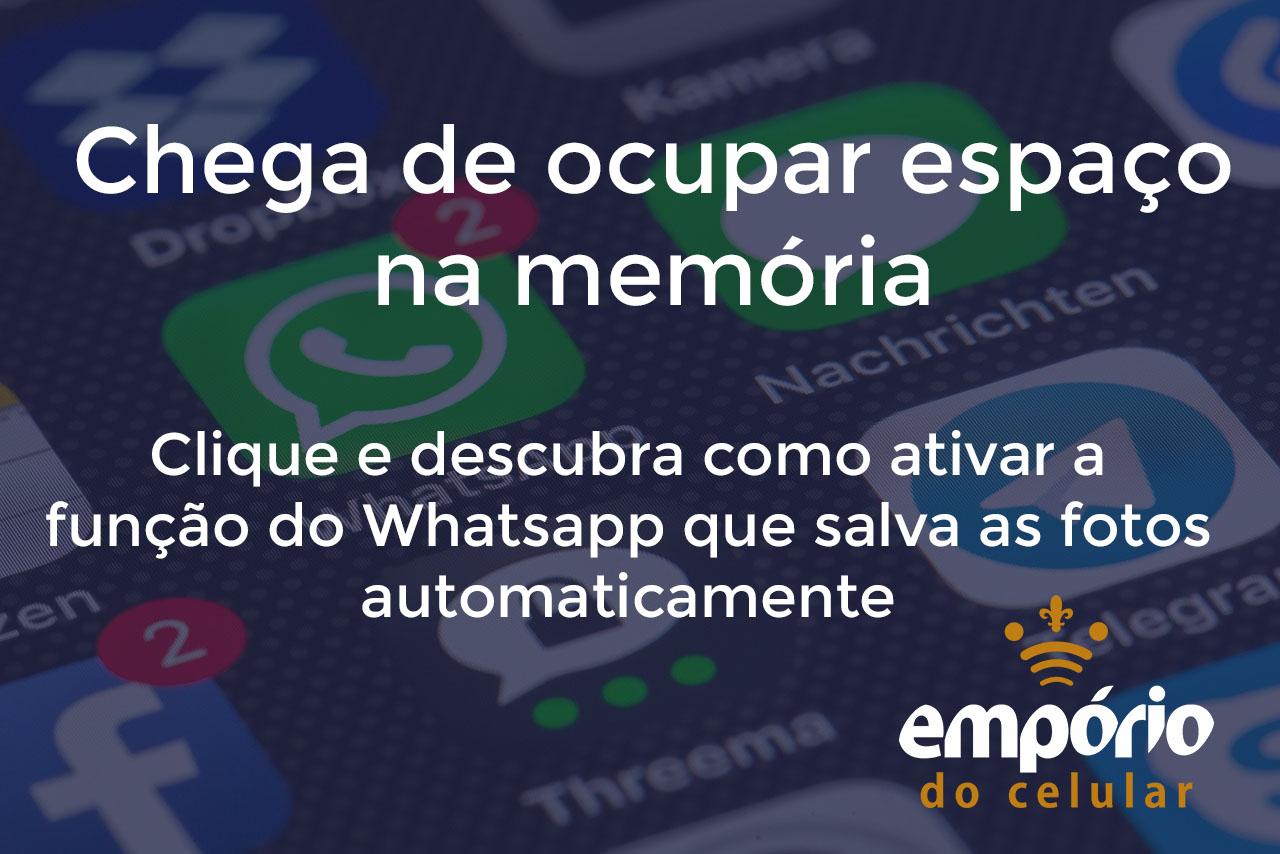 fotos wpp - Como não baixar automaticamente as fotos do Whatsapp
